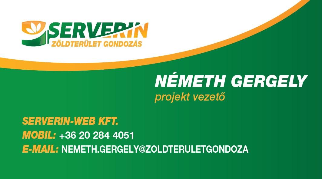 Németh Gergely névjegykártya
